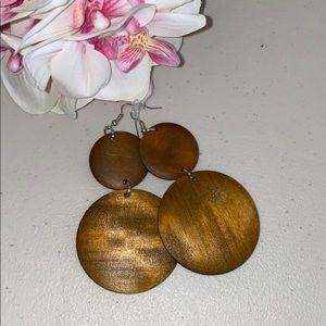 """Natural Wood 3"""" Earrings"""